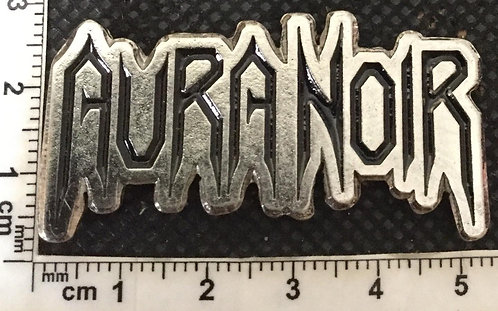 AURA NOIR  Flat Logo Metal Pin