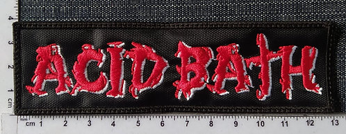 ACID BATH - LOGO EMBROIDERED PATCH