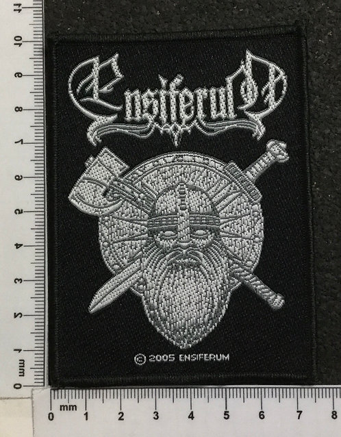 ENSIFERUM - SWORD AND AXE WOVEN PATCH