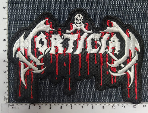 MORTICIAN - SHAPED LOGO EMBROIDERED PATCH