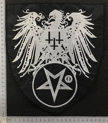 SATANIC WARMASTER - EAGLE SHIELD EMBROIDERED BACK PATCH