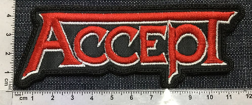 ACCEPT - LOGO EMBROIDERED PATCH