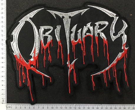 OBITUARY - LOGO EMBROIDERED BACK PATCH
