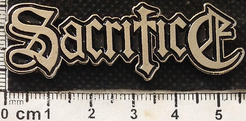 SACRIFICE  - LOGO  Metal Pin