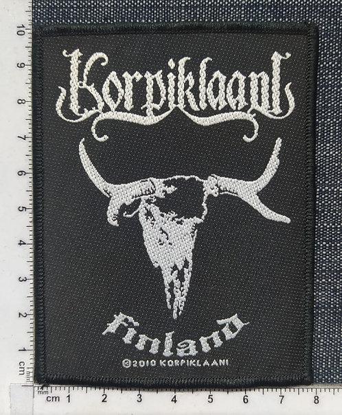 KORPIKLAANI - FINLAND LOGO WOVEN PATH