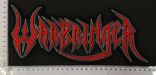 WARBRINGER - LOGO EMBROIDERED BACK PATCH