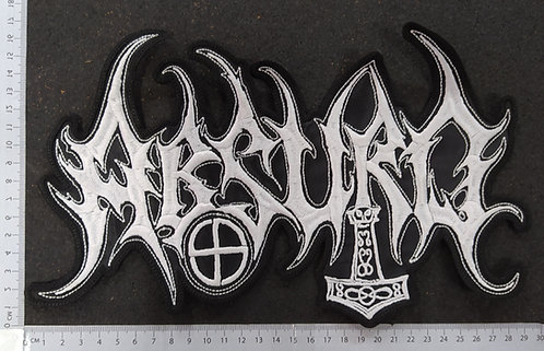 ABSURD - SHAPE LOGO EMBROIDERED BACK PATCH
