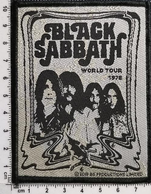 BLACK SABBATH - World Tour 78 band  Woven Patch