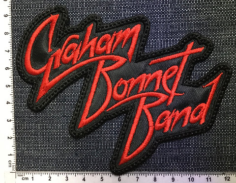 GRAHAM BONNET BAND - LOGO EMBROIDERED PATCH