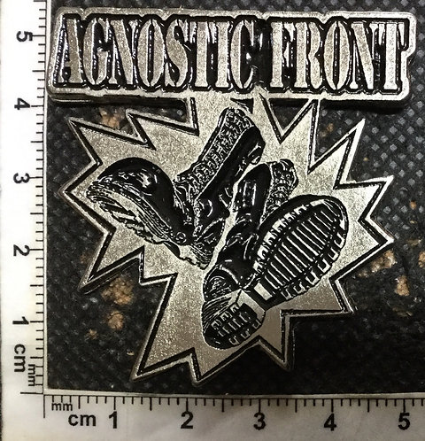 AGNOSTIC FRONT BOOTS - Metal Pin