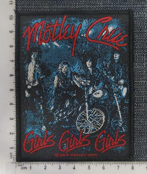 MOTLEY CRUE - GIRLS, GIRLS, GIRLS WOVEN PATCH