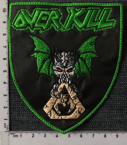 OVER KILL - BAT SHIELD EMBROIDERED PATCH