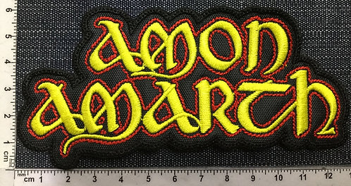 AMON AMARTH - LOGO SHAPED EMBROIDERED PATCH