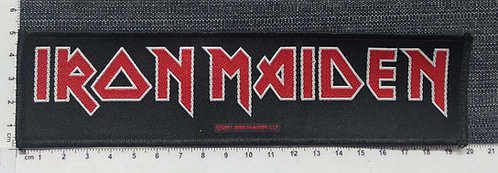 IRON MAIDEN - STRIP LOGO WOVEN PATCH