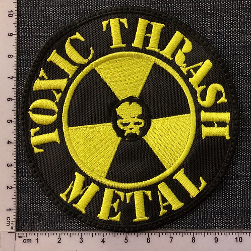 TOXIC THRASH METAL - CIRCLE EMBROIDERED PATCH