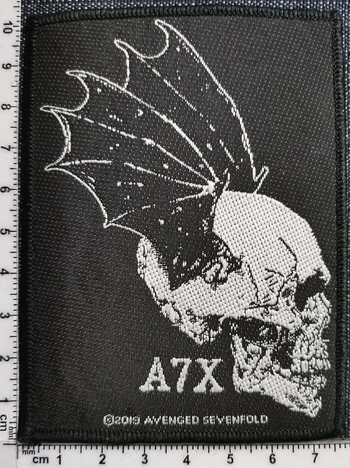 Copia de AVENGED SEVENFOLD - Skull Prifile  Woven Patch