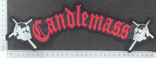 CANDLEMASS - SKULLS LOGO EMBROIDERED BACK PATCH