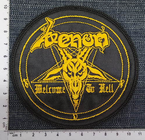 VENOM - WELCOME TO HELL CIRCLE EMBROIDERED PATCH