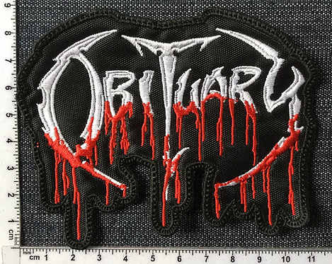 OBITUARY - BLOODY LOGO EMBROIDERED PATCH