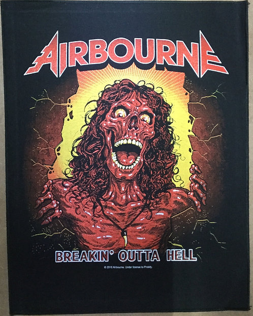 AIRBOURNE - Breakin' Outta Hell Back Patch
