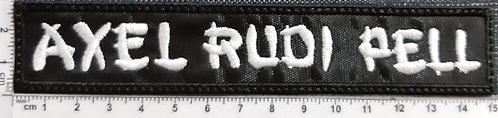AXEL RUDI PELL - WHITE LOGO Patch