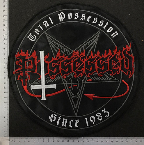 POSSESSED - TOTAL POSSESSION EMBROIDERED BACK PATCH