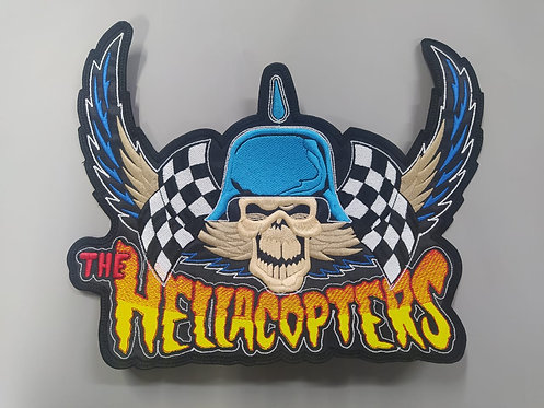 HELLACOPTERS, THE - SKULL EMBROIDERED BACKPATCH