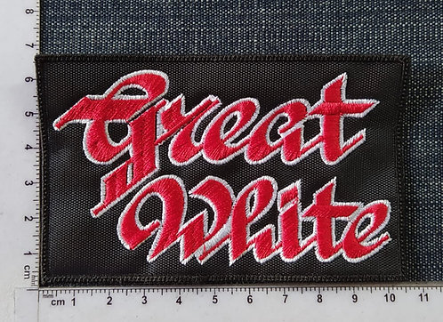 GREAT WHITE - LOGO EMBROIDERED PATCH