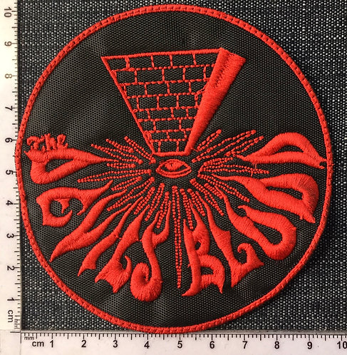 THE DEVIL'S BLOOD - ROUND RED LOGO EMBROIDERED PATCH