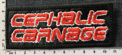 CEPHALIC CARNAGE - LOGO EMBROIDERED PATCH