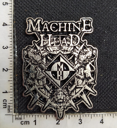 MACHINE HEAD - SQUARE Metal Pin