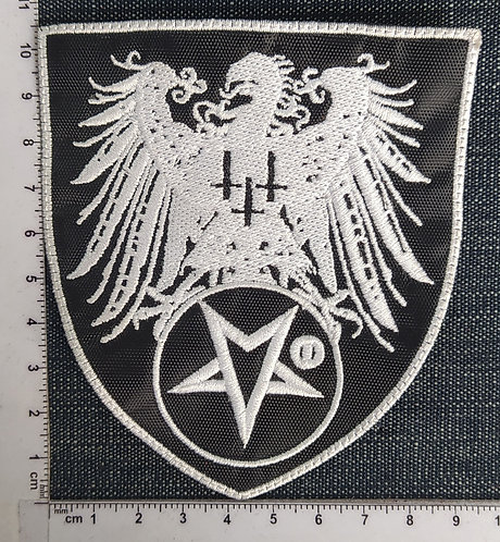 SATANIC WARMASTER - SHIELD EMBROIDERED PATCH