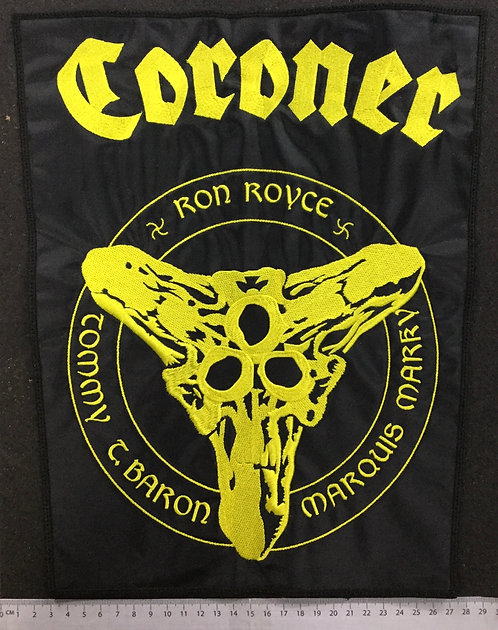 CORONER - LOGO EMBROIDERED BACK PATCH