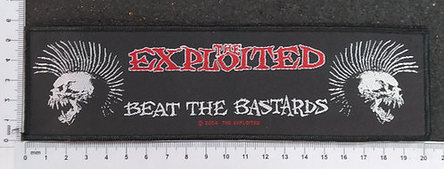 THE EXPLOTED - BEAT THE BASTARD WOVEN PATCH