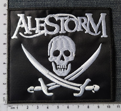 ALESTORM - SKULL EMBROIDERED PATCH