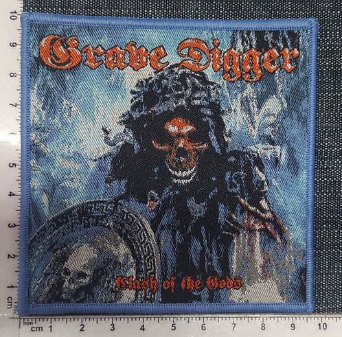 GRAVE DIGGER - CLASH OF THE GODS WOVEN PATCH