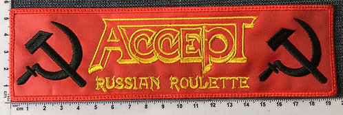 ACCEPT - RUSSIAN STRIP EMBROIDERED PATCH