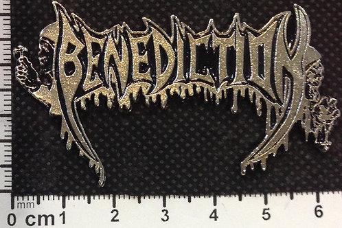 BENEDICTION - LOGO Metal Pin