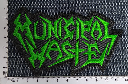 MUNICIPAL WASTE - LOGO EMBROIDERED PATCH