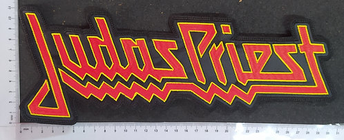 JUDAS PRIEST - RED/YELLOW EMBROIDERED BACKPATCH