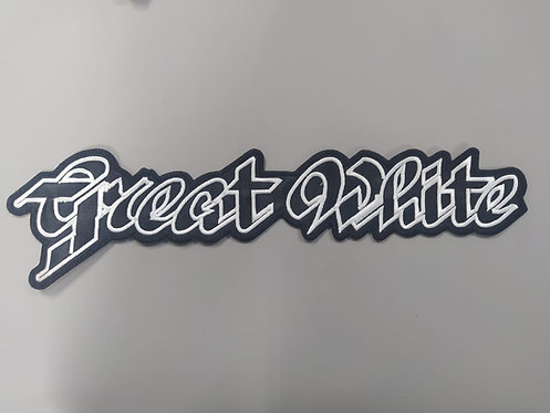 GREAT WHITE - LOGO EMBROIDERED BACKPATCH