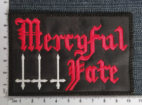 MERCYFUL FATE - OLD LOGO EMBROIDERED PATCH