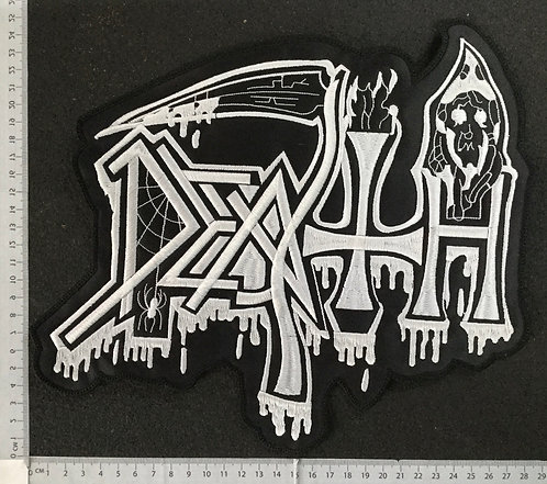DEATH - BLODDY LOGO EMBROIDERED BACK PATCH