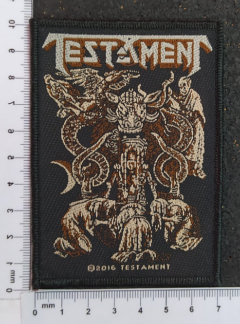 TESTAMENT - DEMONARCHY WOVEN PATCH