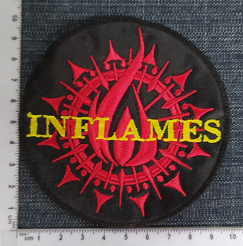 IN FLAMES - CIRCLE EMBROIDERED PATCH