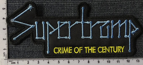 SUPERTRAMP - CRIME OF CENTURY EMBROIDERED PATCH