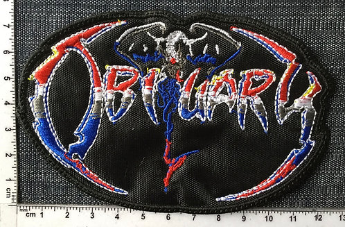 OBITUARY - THE END LOGO EMBROIDERED PATCH