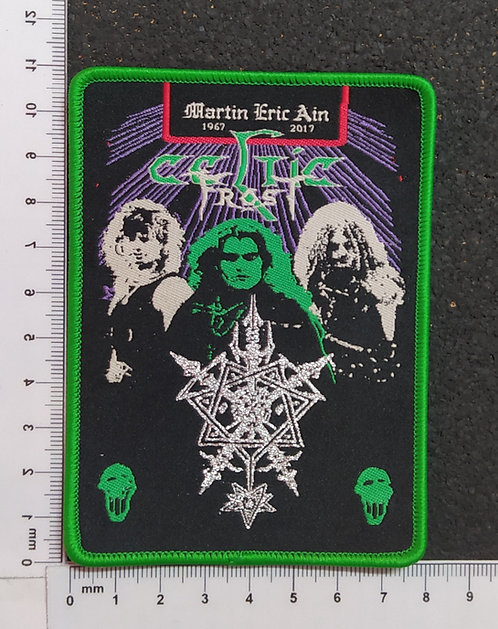 CELTIC FROST - MARTIN ERIC AIN WOVEN PATCH (green border)