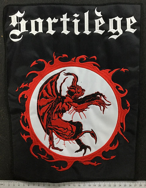 SORTILEGE - EMBROIDERED BACK PATCH