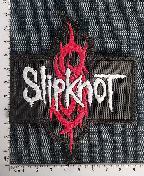 SLIPKNOT - LOGO AND SYMBOL EMBROIDERED PATCH